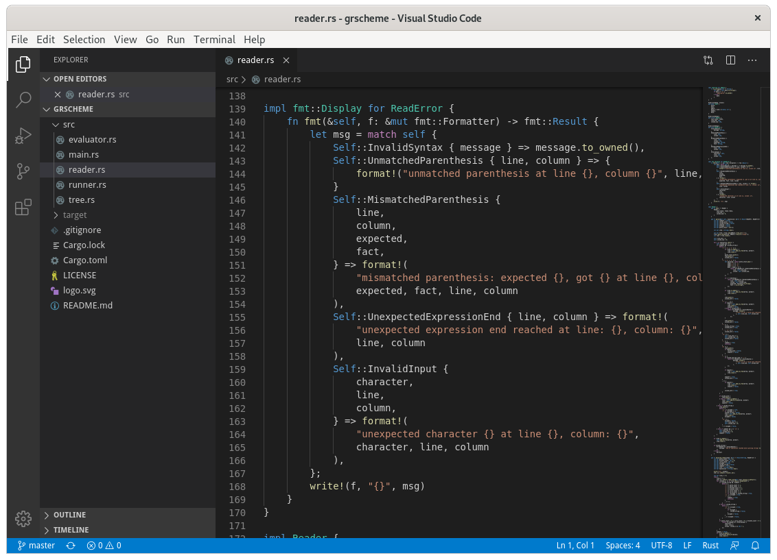Figure 7: Visual Studio Code default look